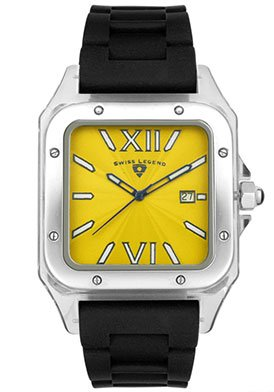 Swiss Legend Men's SL-40067-77 St. Tropez Collection Square Yellow Dial Watch