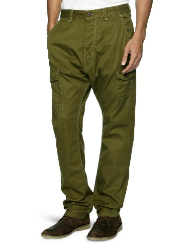 French Connection Live Cargo Relaxed Men's Trousers Olive W28INxL34IN