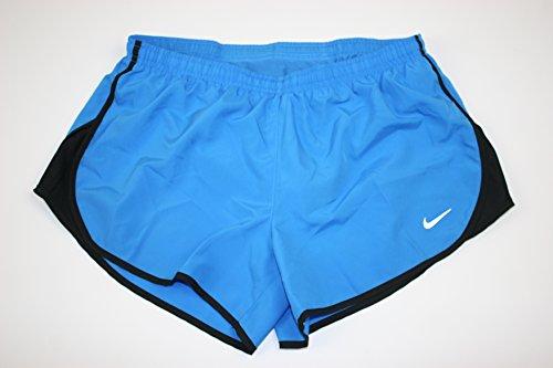 Nike Women's Modern Embossed Tempo Running Shorts 799186 435 Blue M