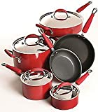 KitchenAid Porcelain Hard-Base 10-pc. Cookware Set - Red