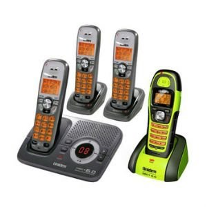 Uniden DECT1580-4WXT Cordless Indoor/Outdoor 4 Handsets Phone System with Call ID and Digital Answering System