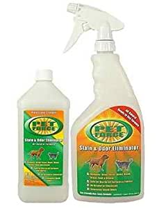 Pet force pet stain and odor remover stain for Fish odor urine