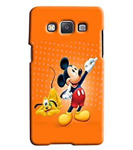 Blue Throat Micky And Dog Printed Designer Back Cover/ Case For Samsung Galaxy E7