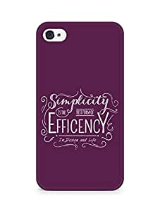 Amez Simplicity is the best form of Efficency Back Cover For Apple iPhone 4
