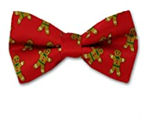FBTX-12 - Red - Brown - Green - Self Tie Christmas Theme Bowtie