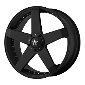 KMC Wheels Rockstar Car KM7757 Matte Black Finish Wheel (22x8.5