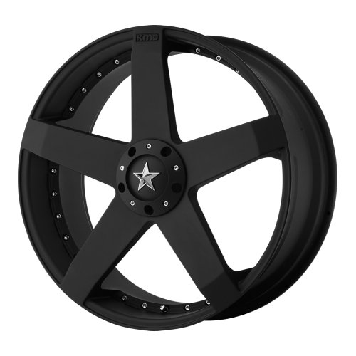 KMC Wheels Rockstar Car (Series KM7757) Matte Black Finish - 18 X 8 Inch Wheel