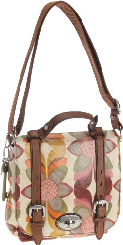 Womens Nylon Handbags FOSSIL WOMEN BAG W VNTG CNV KEYPR ORGNZ FLP ORNG ML ZB5060815