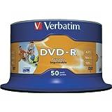 Verbatim DVD-R 4.7GB Printable - Confezione da 50
