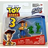 Disney Pixar - Toy Story 3 - Action Links! - Buddy Pack - Waving Woody & Green Army Men