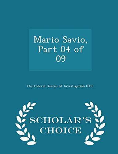 Mario Savio, Part 04 of 09 - Scholar's Choice Edition