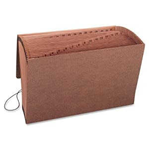 1-31 Expanding Files, 31 Pockets, Legal, Leather-Like Redrope