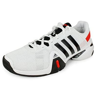 Men`s Barricade 8 Tennis Shoes White and Black