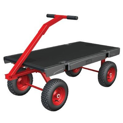 Rubbermaid Commercial FG447500 5th Wheel Wagon Platform Truck, 1200 lbs Capacity, 36