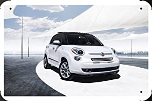 "2014 Fiat 500L Metal Poster Tin Plate Sign 8""x12"""