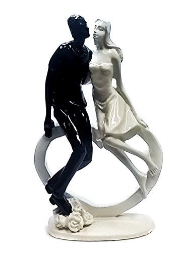 My Baby Love Never Dies Wedding Couple Embracing Statue Figurine 6