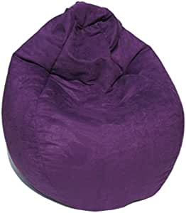 microsuede bean bag chair in purple kitchen dining. Black Bedroom Furniture Sets. Home Design Ideas
