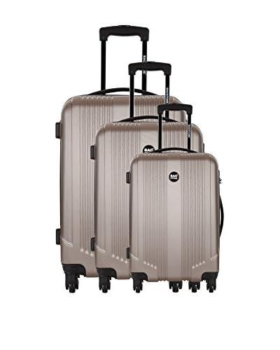 Bag Stone Set de 3 trolleys rígidos Live