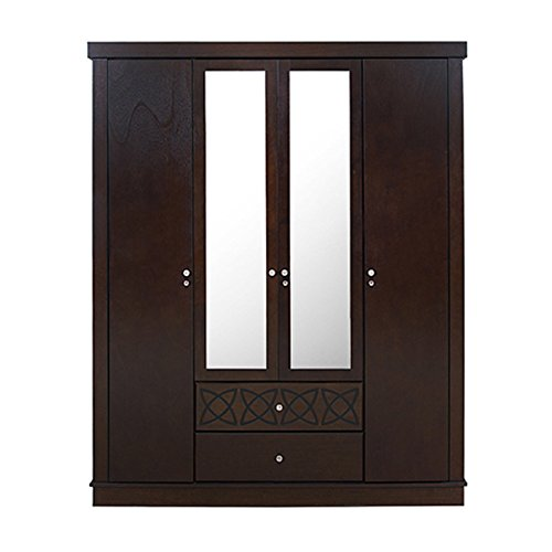 HomeTown Astra 4-Door Wardrobe (Wenge)