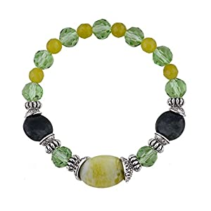 GOMO Jewelry Classic Shamballa Charm Bracelets Natural TurquoiCrystal Beads Bracelet