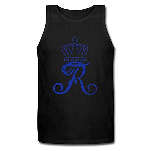 Cool XJ-Corona reale Queen capitale R Activewear-Gilet da uomo, colore: nero nero S