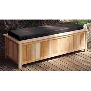 Cedar Creek 2054 Cedar Large Storage Bench With Cushion Top Color Black Outdoor