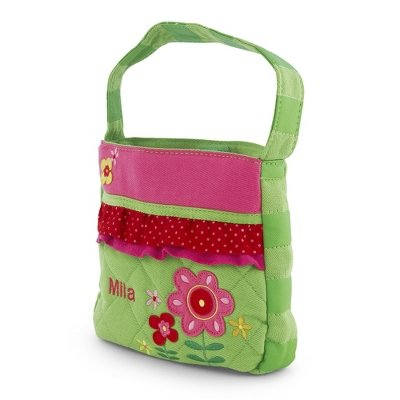 Personalized Quilted Flower Purse front-182912