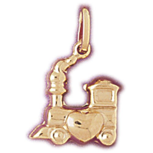 14kt Yellow Gold Puffed Love Train Pendant