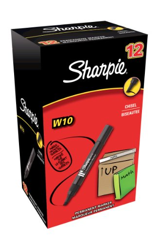 sharpie-w10-permanent-marker-chisel-tip-black-box-of-12