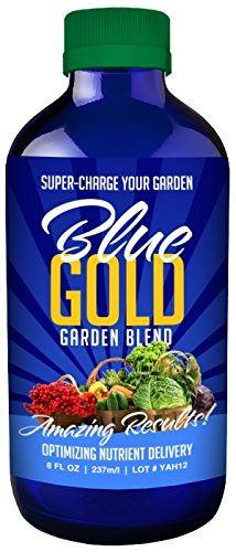 Blue Gold Garden Organic Liquid Concentrate 200+ Mineral & Nutrient Fix Disease & Mildew. Reduce Pest. Use Less Fertilizer. Increase Harvest. Fix Hollow Stem. More Root Growth. Vibrant Produce.