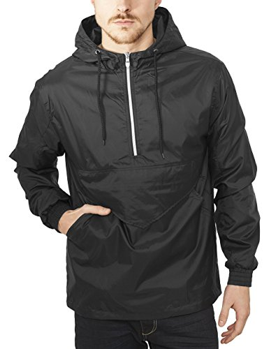 Urban Classics Pull Over Windbreaker-Giacca Uomo    Nero (Black 7) Medium
