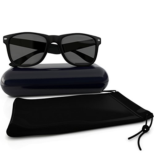 Image of Designer Wayfarer Sunglasses - Polarized Uv Protection - Made From Custom Impact Resistant Material - Maximum Clarity and Color for Fishing, Sports and Running By California Products