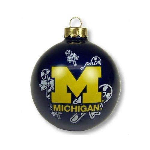 Michigan Wolverines Official NCAA 2 5/8 inch 3″ Small Christmas Ornament
