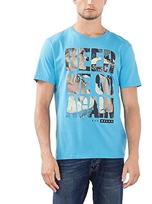 edc by ESPRIT Camiseta Manga Corta (Azul)