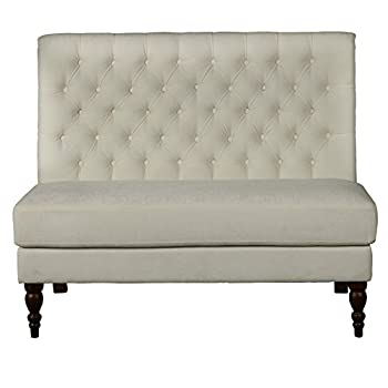 Pulaski Accentrics Home Button Tufted Upholstered Settee in White