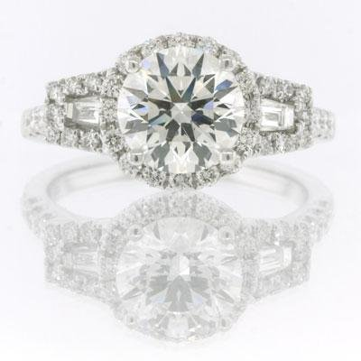 2.37ct Round Brilliant Cut Diamond Engagement 