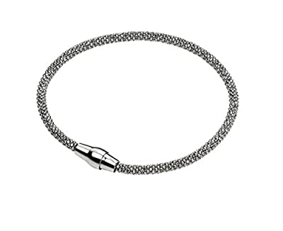 Elements Sterling Silver, Ladies, B4221, Rhodium Plate Diamond Bead Chain Bracelet of Length 19cm