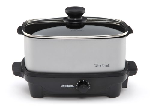 West Bend 84915 5-Quart Oblong-Shaped Slow Cooker