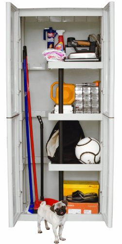 Art plast s70 ps armadio in plastica alto con portascope for Armadio in plastica ikea