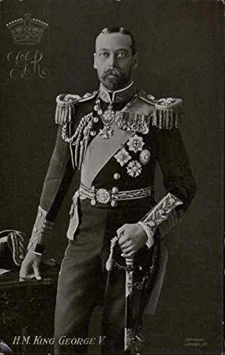 hm-king-george-v-royalty-original-vintage-postcard