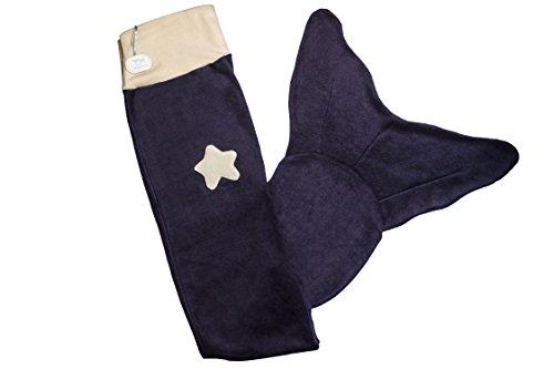 Meerjungfrauen-Decke für Damen aus weichem Fleece blau/beige von Ringelsuse thumbnail