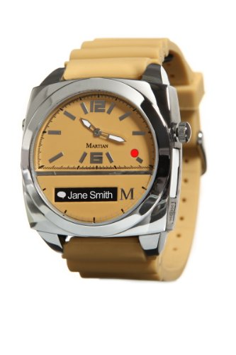Martian Watches Victory Smart Watch (Tan/Silver/Tan)