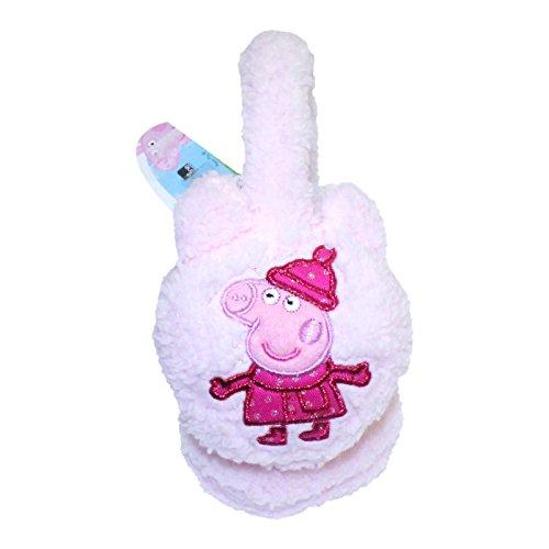 Kids Girls Children PEPPA PIG Earmuffs Baby Pink Winter Ear Warmer Ear muff Soft And Fluffy