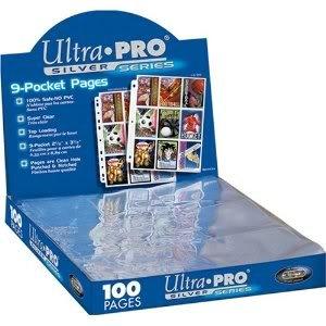 Ultra Pro Silver Series 100/9 Pocket Page Protectors With Hologram Safe Storage - Highest Quality Jouets, Jeux, Enfant, Peu, Nourrisson