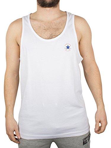 Converse Uomo Left Logo Vest, Bianco, Large