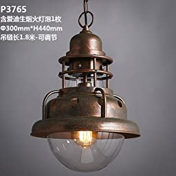 Vintage industrial lampshades single little chandeliers innovative restaurants bars cafes wrought iron old lampsP3765-containing pyrotechnic light bulb 1