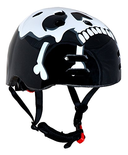 Sport DirectTM BMX / Skate Bicycle Cycle Helmet Skull & Cross Bone Medium 56-58cm CE EN1078 TUV Approvals