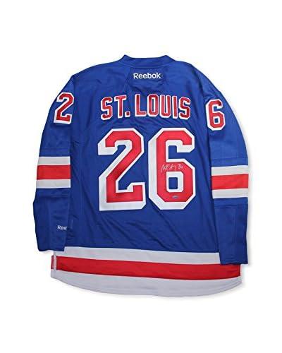 Steiner Sports Memorabilia Martin St. Louis Signed New York Rangers Blue Premier Jersey With Alterna...