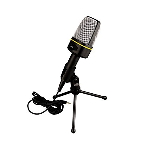 Generic Singing Recording 3.5Mm Condenser Microphone Mic For Pc Laptop Msn Skype Youtube