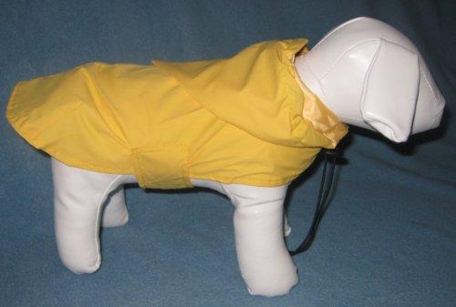 New! Yellow Hooded Dog Rain Coat- 24